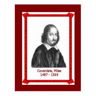 Famous people, Miles Coverdale 1487 - 1569 Postcard