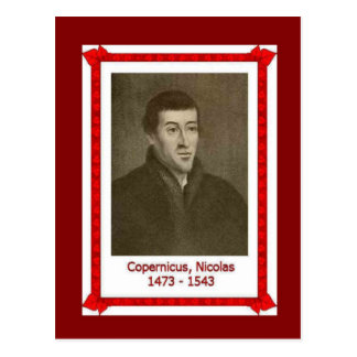 Famous people, Nicholas Copernicus 1473 - 1543 Postcard