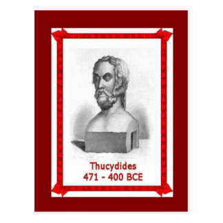 Famous people, Thucydides 471-400 BCE Postcard
