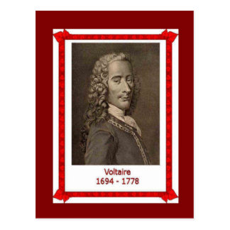 Famous people,Voltaire 1694-1778 Post Cards