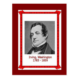 Famous people, Washington Irving 1783-1859 Postcard