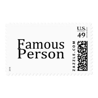 Famous Person Postage