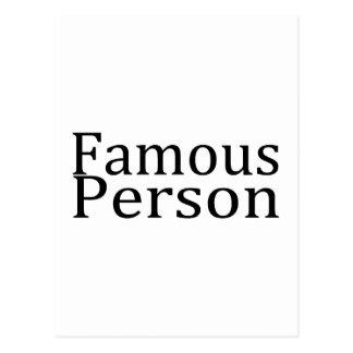 Famous Person Postcard