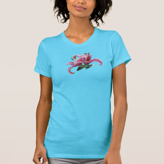 Famous - Pink Lily Flower T-Shirt