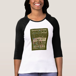 Famous Places of Amsterdam, Netherlands. Tshirt