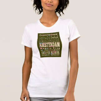 Famous Places of Amsterdam, Netherlands. Tees