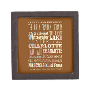Famous Places of Charlotte, North Carolina. Premium Gift Boxes