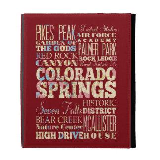 Famous Places of Colorado Springs, Colorado. iPad Folio Covers
