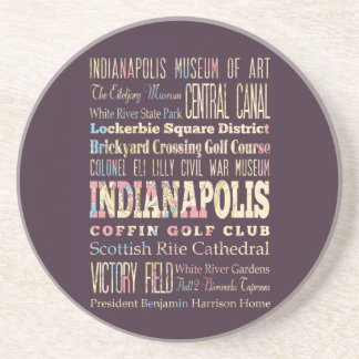 Famous Places of Indianapolis, Indiana. Sandstone Coaster