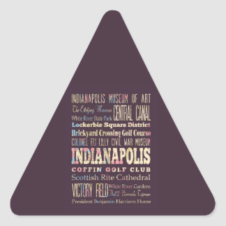 Famous Places of Indianapolis, Indiana. Triangle Sticker