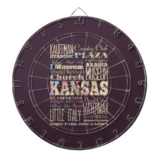Famous Places of Kansas, United States. Dart Board