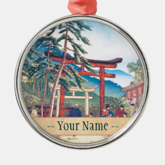 Famous Places of Kyoto - Fushimi Inari scenery Metal Ornament