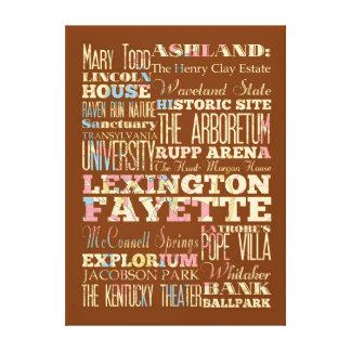 Famous Places of Lexington Fayette, Kentucky. Canvas Print