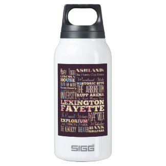 Famous Places of Lexington Fayette, Kentucky. Insulated Water Bottle
