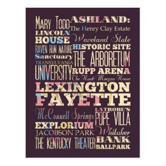 Famous Places of Lexington Fayette, Kentucky. Postcard