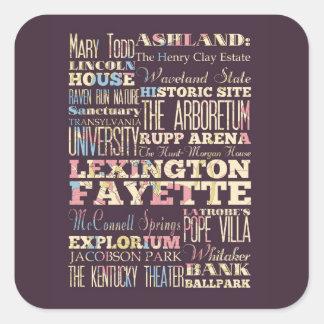 Famous Places of Lexington Fayette, Kentucky. Square Stickers