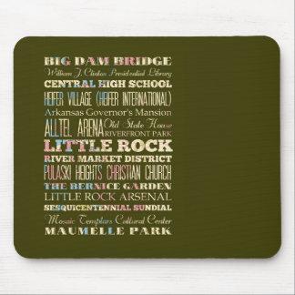 Famous Places of Little Rock, Arkansas. Mouse Pad