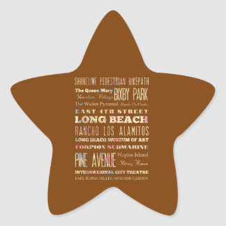 Famous Places of Long Beach, California. Sticker