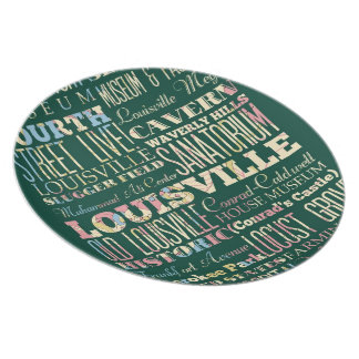 Famous Places of Louisville, Kentucky. Dinner Plate