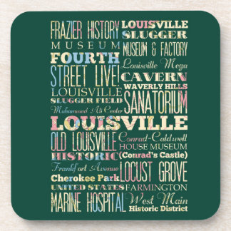 Famous Places of Louisville, Kentucky. Drink Coaster