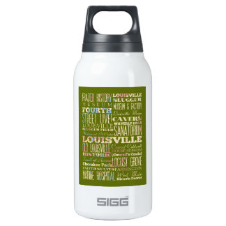 Famous Places of Louisville, Kentucky. Insulated Water Bottle