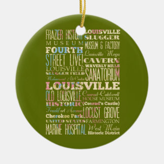Famous Places of Louisville Kentucky Christmas Ornaments