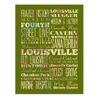 Famous Places of Louisville, Kentucky. Post Card