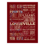 Famous Places of Louisville, Kentucky. Print