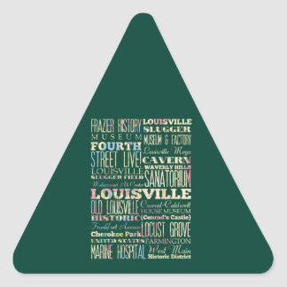 Famous Places of Louisville, Kentucky. Triangle Sticker