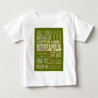 Famous Places of Minneapolis, Minnesota. Baby T-Shirt