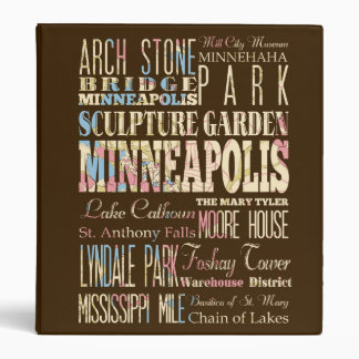 Famous Places of Minneapolis, Minnesota. Binder
