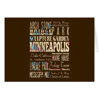 Famous Places of Minneapolis, Minnesota. Card