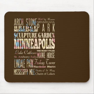 Famous Places of Minneapolis, Minnesota. Mouse Pad