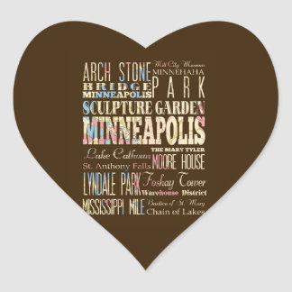 Famous Places of Minneapolis, Minnesota. Sticker
