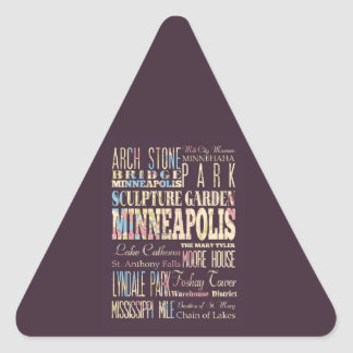 Famous Places of Minneapolis, Minnesota. Stickers