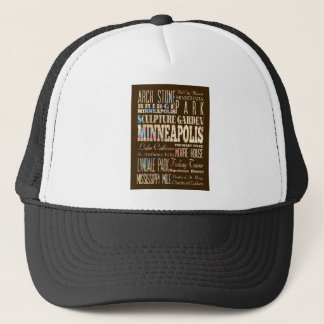Famous Places of Minneapolis, Minnesota. Trucker Hat