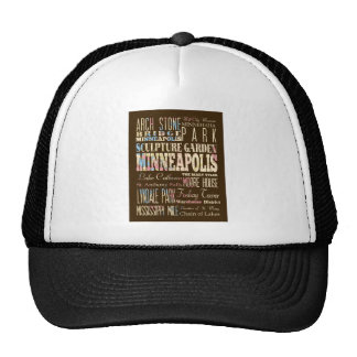 Famous Places of Minneapolis, Minnesota. Trucker Hat