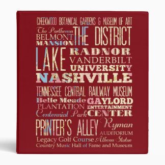 Famous Places of Nashville, Tennessee. Binder