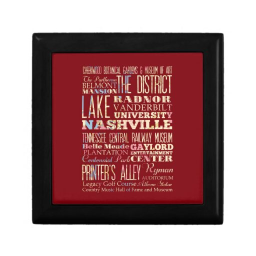 Famous Places of Nashville, Tennessee. Keepsake Boxes
