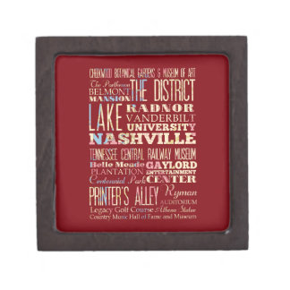 Famous Places of Nashville, Tennessee. Gift Box