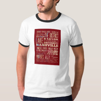 Famous Places of Nashville, Tennessee. T-Shirt