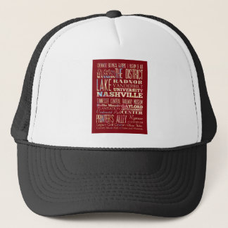 Famous Places of Nashville, Tennessee. Trucker Hat