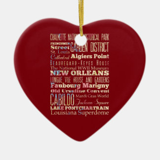 Famous Places of New Orleans Louisiana Ornaments