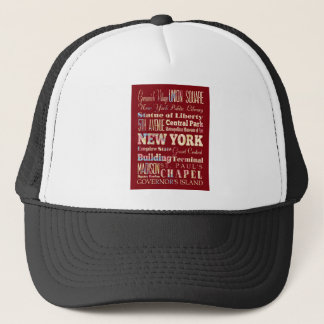 Famous Places of New York, United States. Trucker Hat