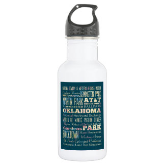 Famous Places of Oklahoma, United States. 18oz Water Bottle