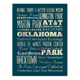 Famous Places of Oklahoma, United States. Postcard