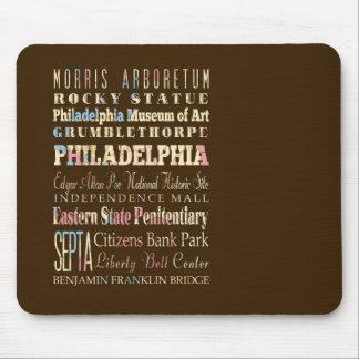 Famous Places of Philadelphia, Pennsylvania. Mouse Pad