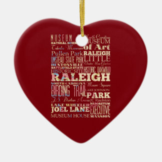 Famous Places of Raleigh North Carolina Christmas Ornament