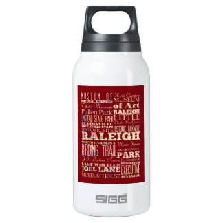 Famous Places of Raleigh, North Carolina. 10 Oz Insulated SIGG Thermos Water Bottle