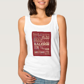 Famous Places of Raleigh, North Carolina. Tank Top